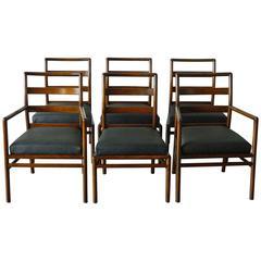 Six T.H. Robsjohn-Gibbings Ladder Back Dining Chairs
