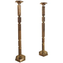 Tall Vintage Candleholders