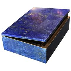 Exquisite Lapis Lazuli Gilt Bronze Jewelry Dresser Box, 1950s