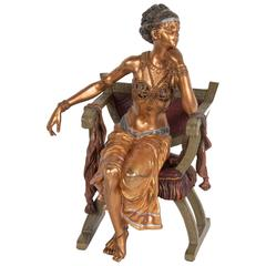 Bronze of an Orientalist Woman Signed Bergman