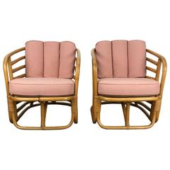 Pair of Art Deco Bamboo Armchairs by Ritts Tropitan ,Paul Frankl