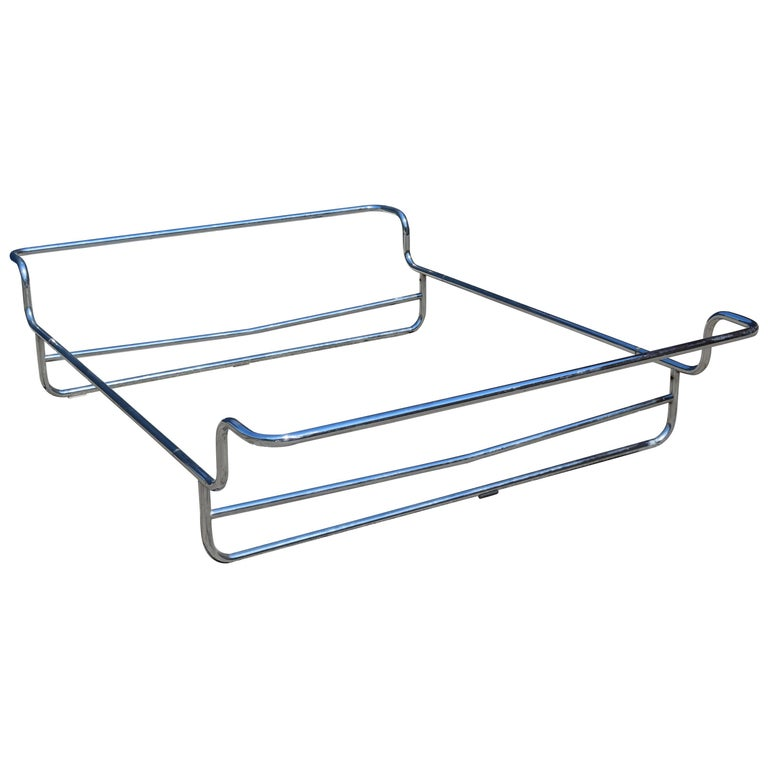 1970s minimalist chrome queen bed frame for sale at 1stdibs for Best minimalist bed frame