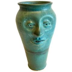 Unique Hand Thrown Stoneware Pottery Vase by Fontaine