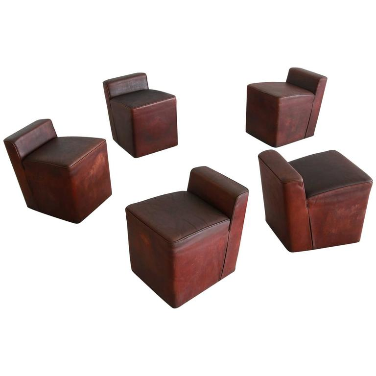 Italian Leather Cubes 1
