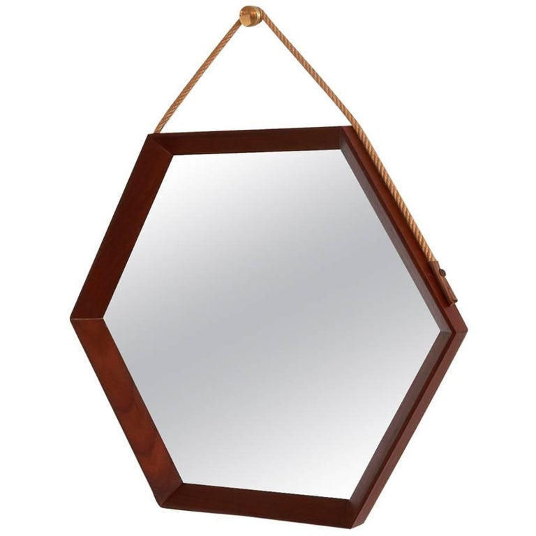 Danish Hexagonal Mirror 1