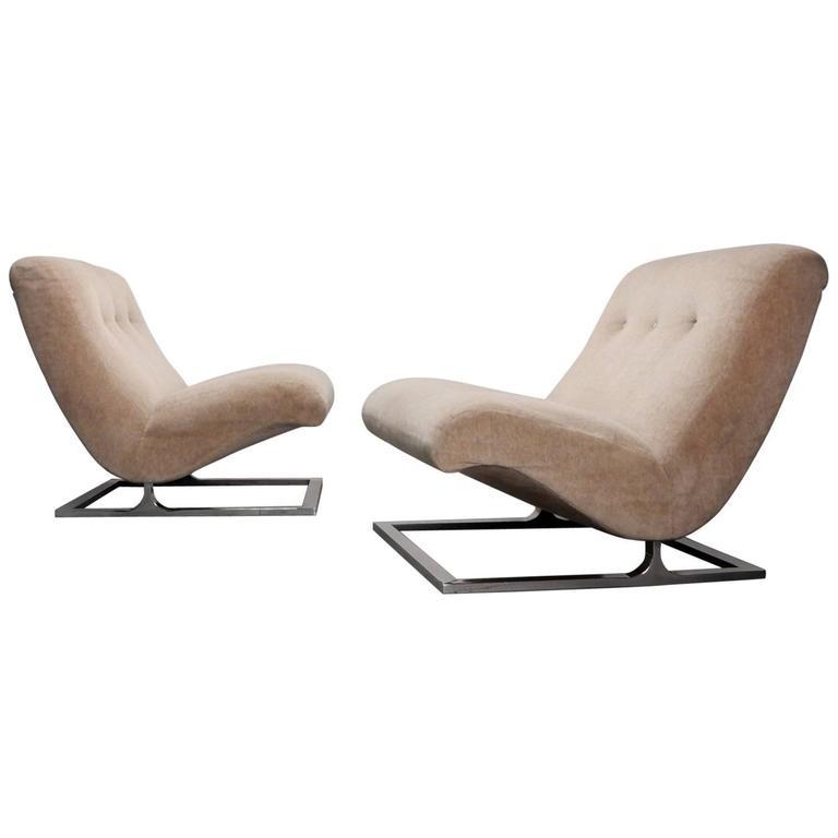 Mid-Century Milo Baughman Scoop Lounge Chairs