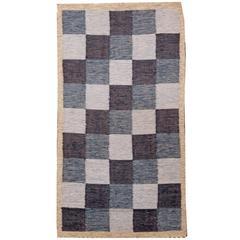 Vintage Swedish Flat-Woven Rug