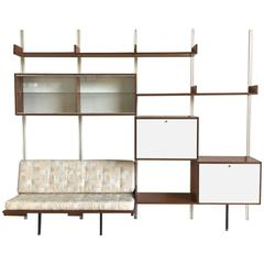 Wall-Mounted Bookcase, A.R.P for Minvielle, France, 1960