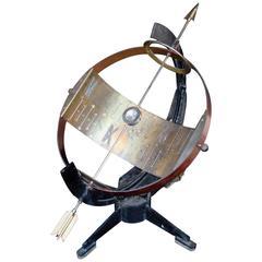 1960s, Aluminium, Brass, Steel and Copper Sundial