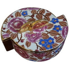 Art Deco Box with Lid by Raymond Chevalier for Boch La Louviere Floral Design