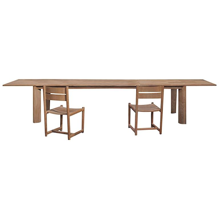 Roda Brick Extendable Dining Table in Teak for Outdoors