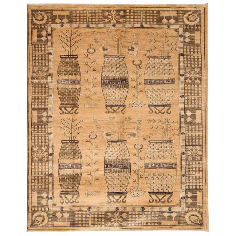 Orley shabahang signature khotan design carpet in handspun wool and vegetal dyes 1