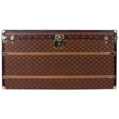 Antique 20th Century Aux Etats Hermetically Lined Steamer Trunk, circa 1900