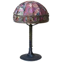 French Art Deco Wrought Iron Table Lamp, circa 1930s