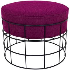 Mid-Century Wire Stool T1 by Verner Panton for Plus Linje, Denmark, 1960s