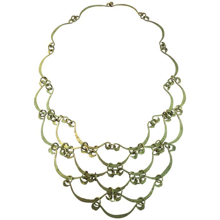 Calder Inspired Handmade Brass Necklace 1