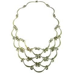 Calder Inspired Handmade Brass Necklace