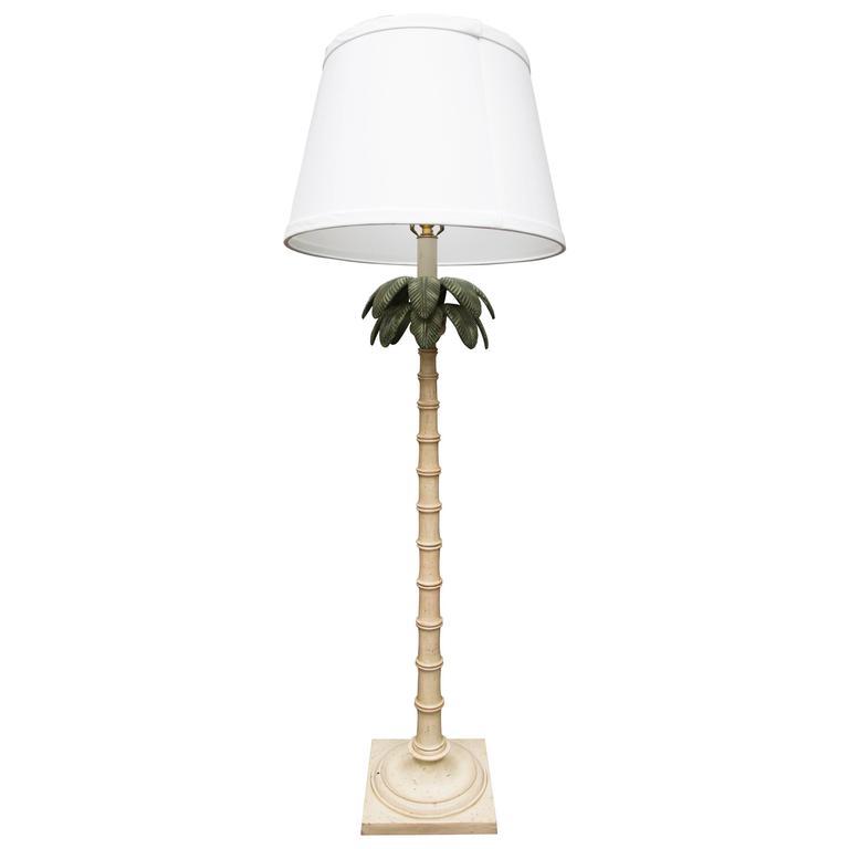 Polychromed tole palm tree floor lamp for sale at 1stdibs polychromed tole palm tree floor lamp for sale aloadofball Choice Image