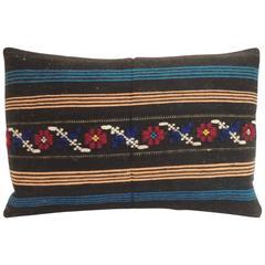 Vintage Turkish Woven Petit Lumbar Decorative Pillow