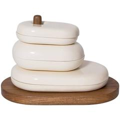 """Jahulle"" Set of Stacking Dishes by Maria Jose Nunez for Valenzuela"