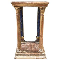 Italian Gold Gilt and Painted Pedestal from the Early 20th Century