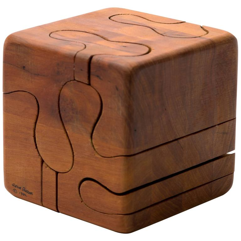 Gene Sherer Wooden Cube Puzzle At 1stdibs
