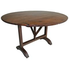 19th Century Tilt-Top Wine Tasting Table