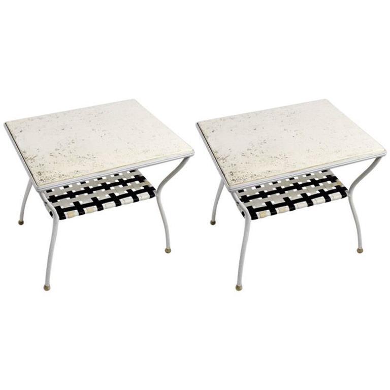 Pair of Brown Jordan Side Tables