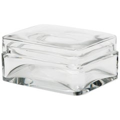 Baccarat Crystal Lidded Jewelry Trinket Box