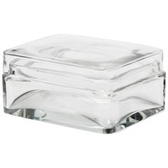 Baccarat Crystal Lidded Jewelry Trinket Box