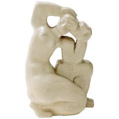 Maximilian Schulmann Cubist Ceramic Figural Sculpture