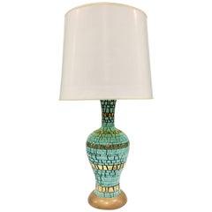 Mid-Century Modern Martz Style Ceramic Mosaic Tile Lamp