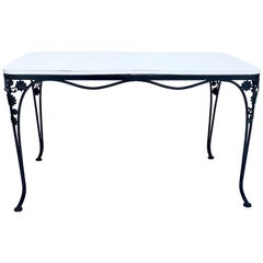 Mid-Century Iron Floral & Vine Dining Table By, Woodard