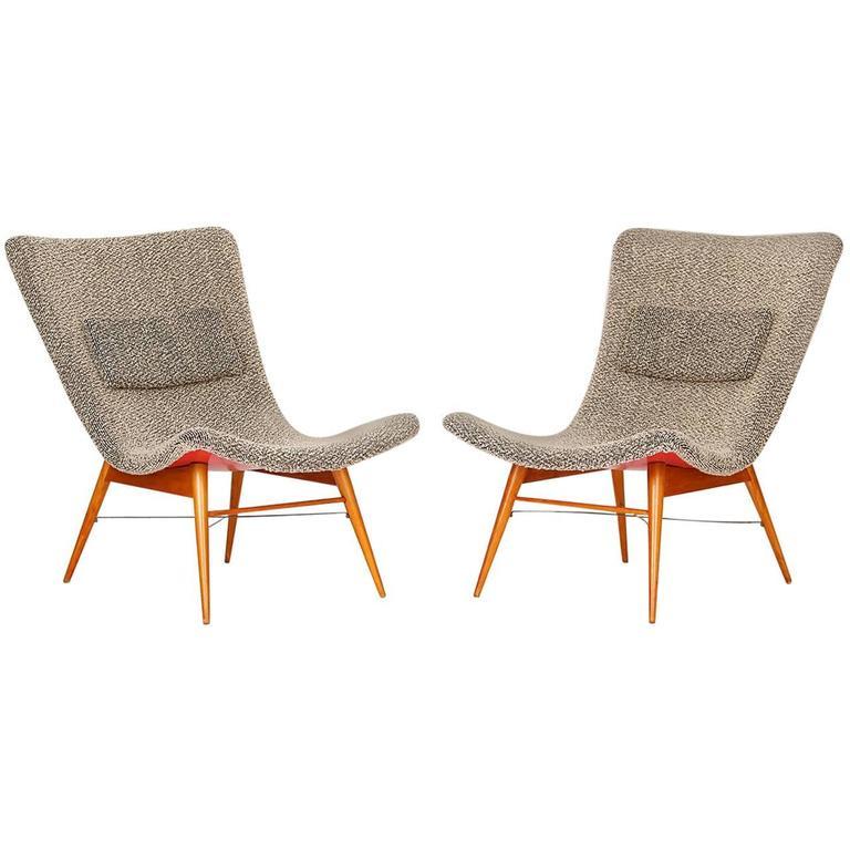 Lounge Chairs by Miroslav Navratil for Cesky Nabytek, 1960s, Set of Two