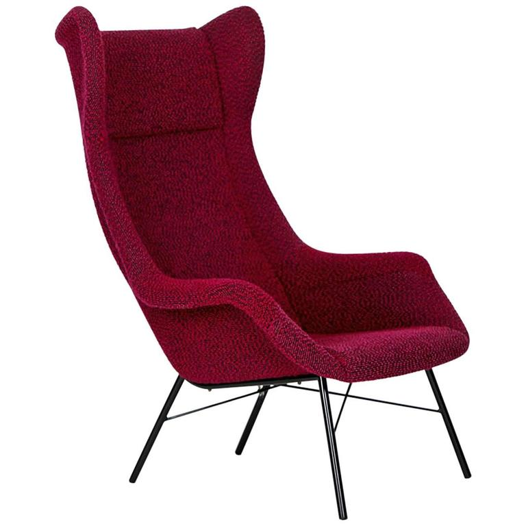 Wingback Armchair by Miroslav Navratil for Ton, 1960s