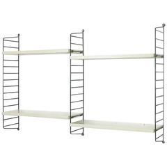Original White 1960s Modular String Wall Unit by Nisse Strinning, Sweden