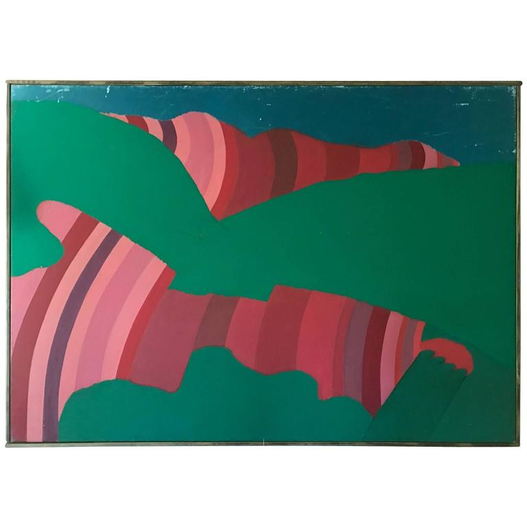 Large Abstract Signed Heath, circa 1960