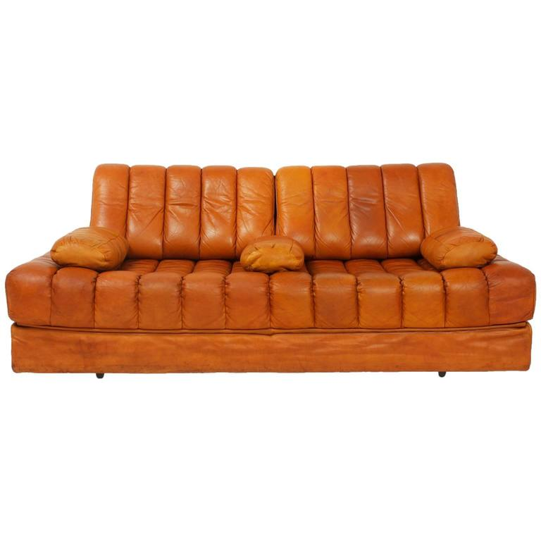 De Sede DS 85 Leather Sofa Bed, Switzerland