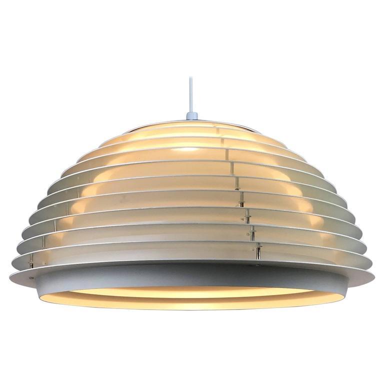 White Ceiling Pendant by Fog Morup, Denmark. Scandinavian Modernism from 1960s.