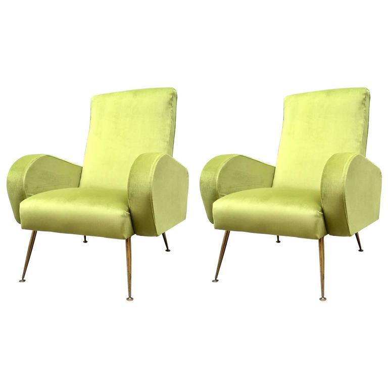 Pair of 1960s Italian Armchairs