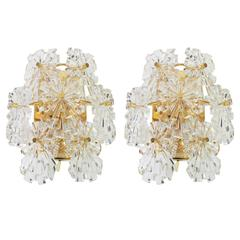Wonderful Pair of Crystal Sconces by Kinkeldey, Germany, 1970s