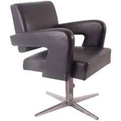 "Jacques ADNET ""PRESIDENT"" DESK CHAIR EXECUTIVE SWIVEL ARMCHAIR   FREE SHIPPING"