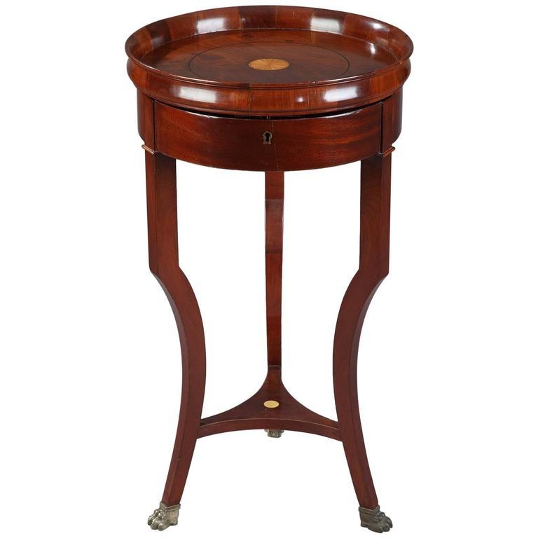 Early 19th Century Restauration Mahogany Work Table-Jewelry Box