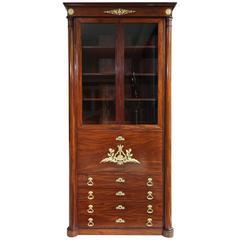 Early 19th Century Empire Mahogany Secretary Desk