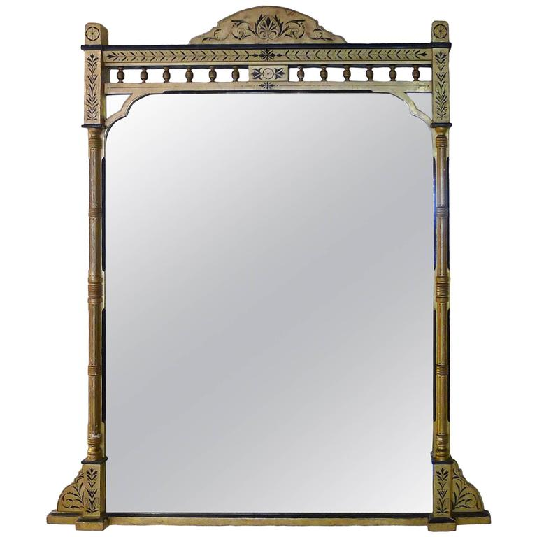 1860s tall american giltwood overmantel mirror for sale at for Tall mirrors for sale