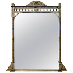 1860s Tall American Giltwood Overmantel Mirror
