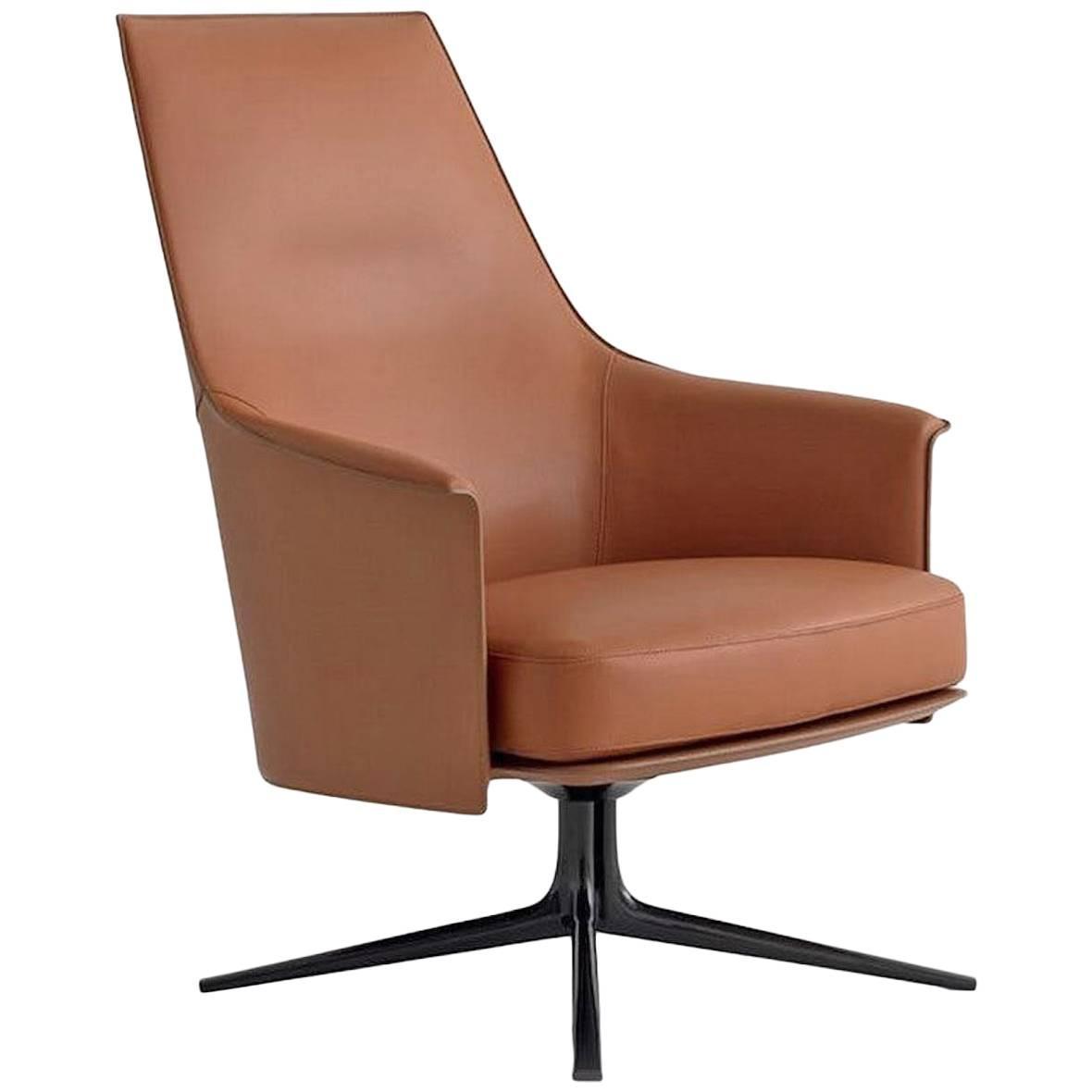 Leather sofa by poltrona frau at 1stdibs - Poliform Stanford High Back Armchair By Jean Marie Massaud Poltrona Frau Grantorino Swivel Armchair