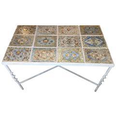 Iron Persian Tile Coffee Table