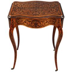 19th Century Napoleon III Marquetry Sewing Table