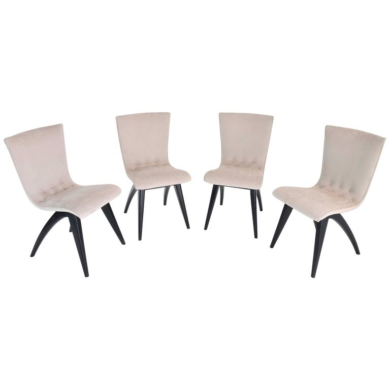 Mid-Century Dutch Dining Chairs by C.J Van OS, Set of Four